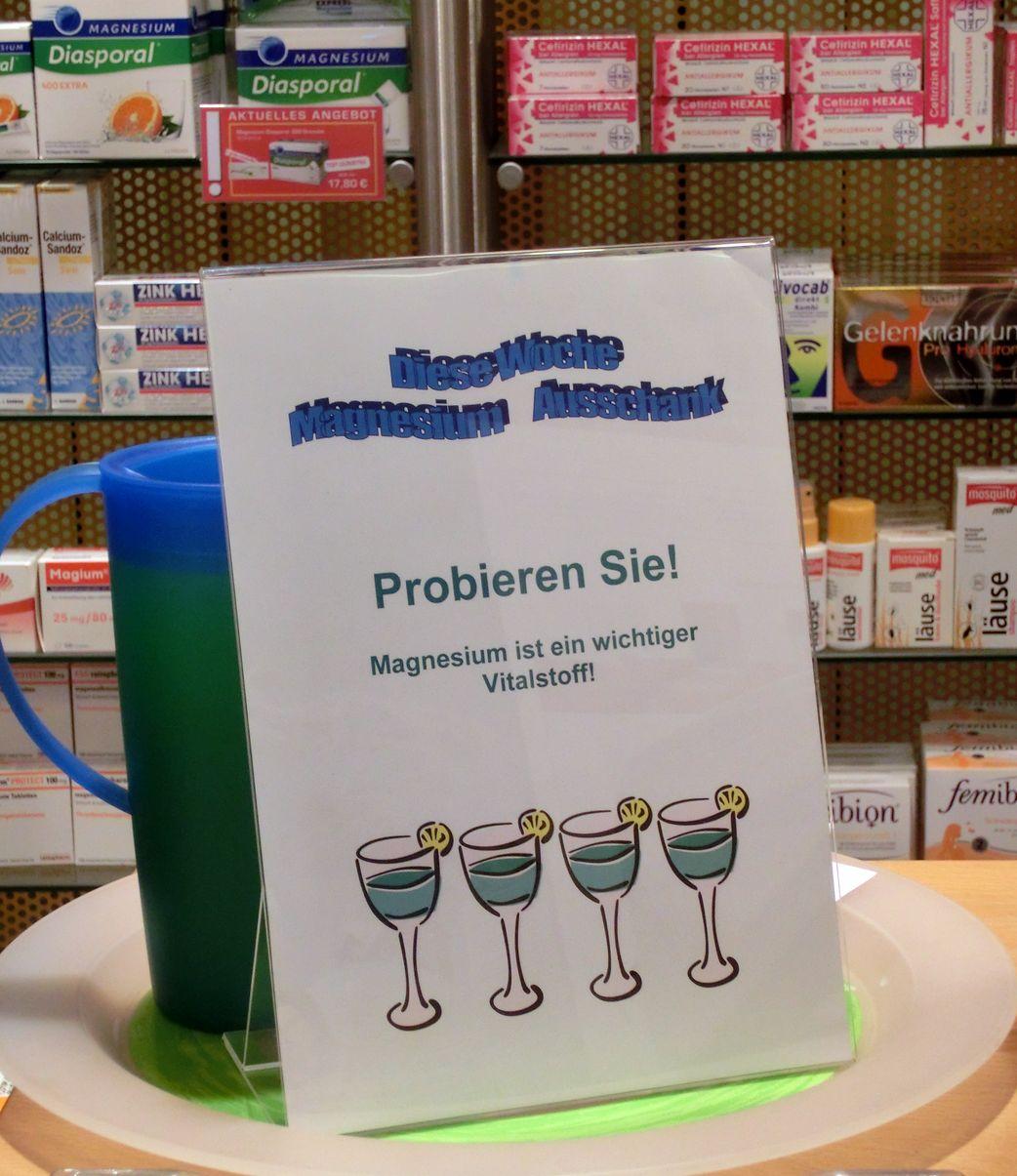 Ein Schluck Gesundheit für unsere Kunden.