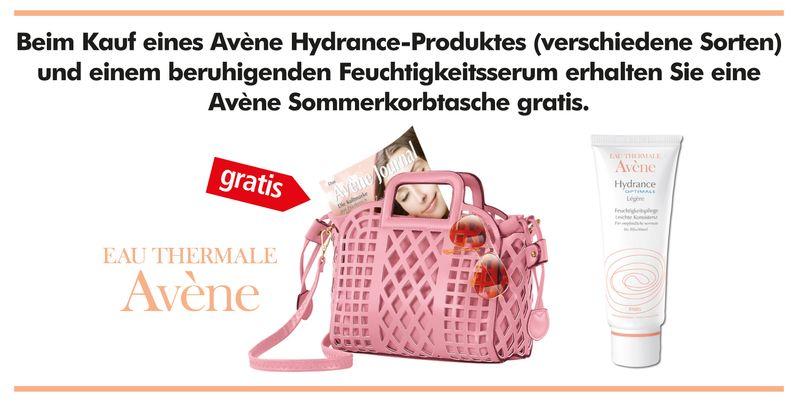 Avene und Korbtasche