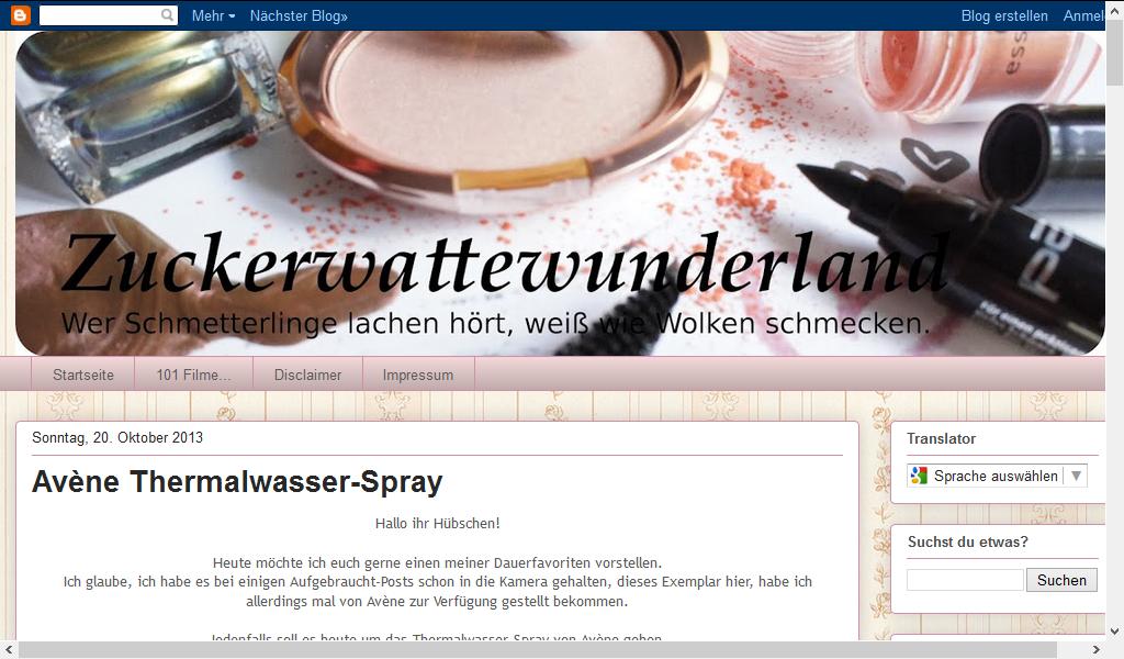 Blog Zuckerwattewunderland