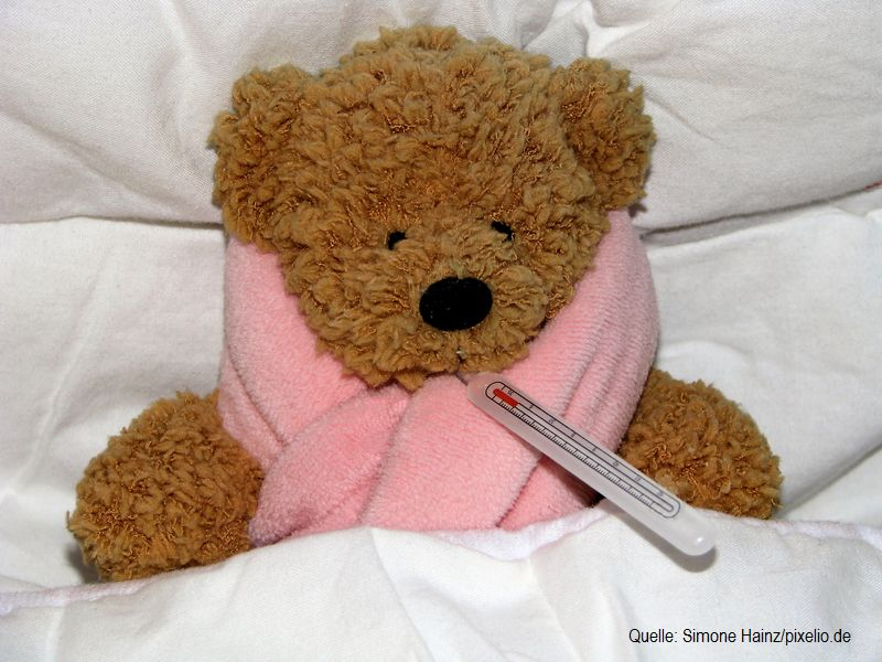 Erkältung behandeln bei Kindern und Babys by Simone Hainz-pixelio.de