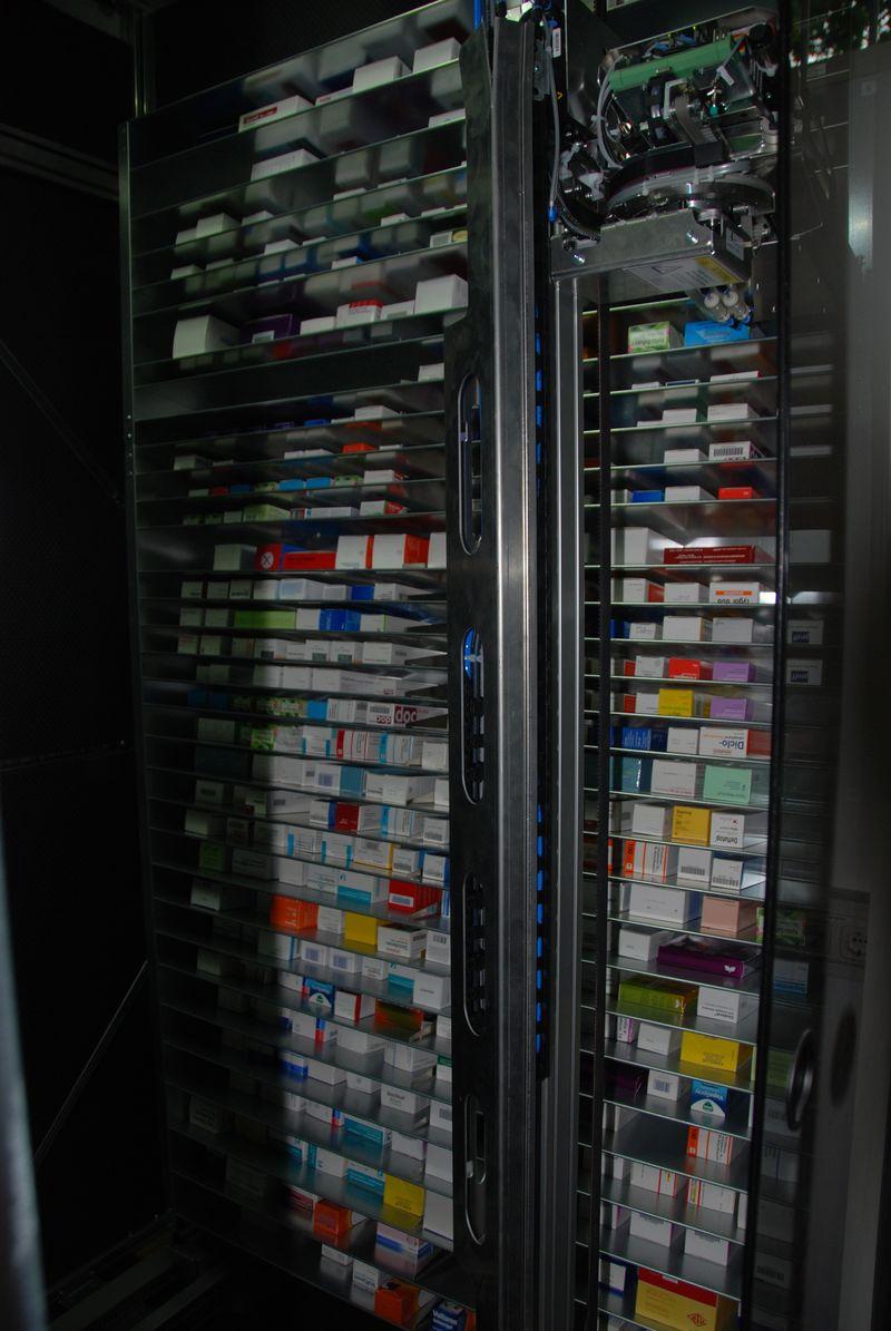 umbau - kommissionierautomat innen