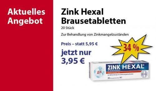 pharao apotheke - zink hexal brausetabletten