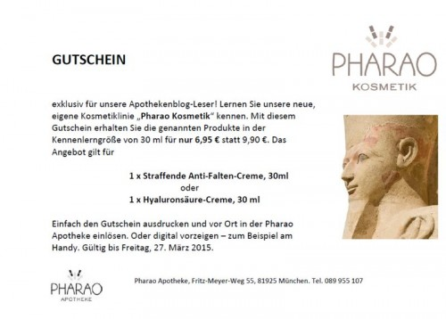 Screenshot Gutschein Pharao Kosmetik_