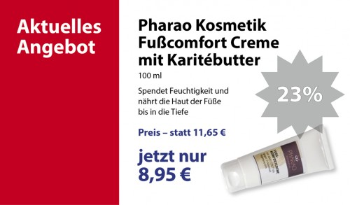 Pharao Kosmetik Fußkomfort-Creme