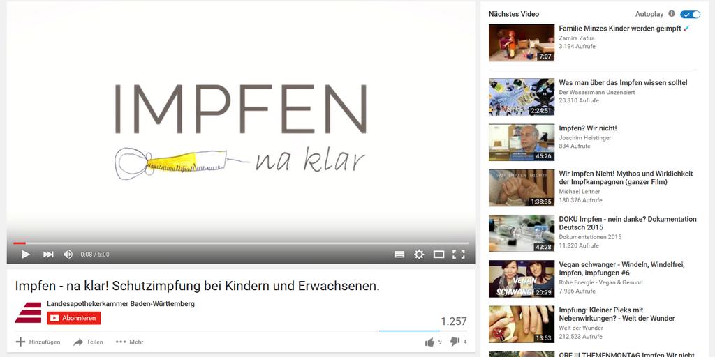 """Film """"Impfen - Na, klar!"""" der LAV Baden-Württemberg"""